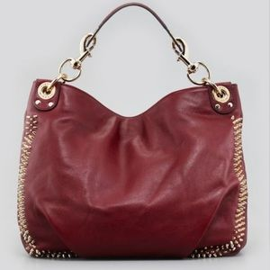 REBECCA MINKOFF Luscious Burgundy Hobo Bag